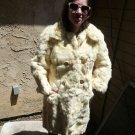 Full Length White Rabbit Fur Coat (#112)