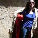 Full Length Blue Fox Fur Coat (#118)