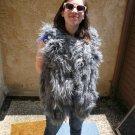 Grey Mongolian Fur Vest (#120)