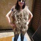 Brown Mongolian Fur Vest (#122)