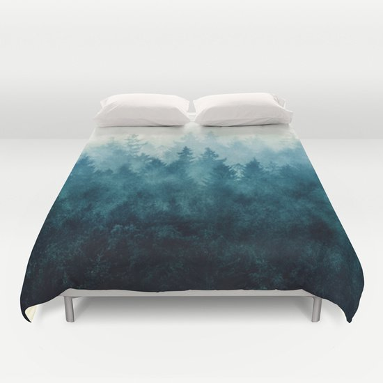 BLUE FOREST DUVET COVERS for QUEEN SIZE 1Lhx2Vk