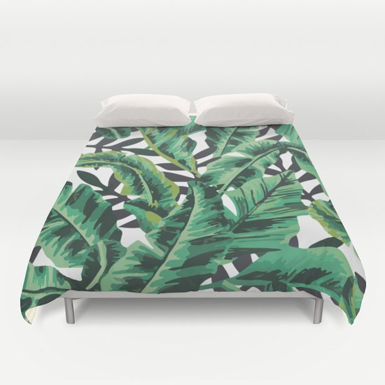 Tropical  Banana Leaf  DUVET COVERS for FULL SIZE 1F39ZfP