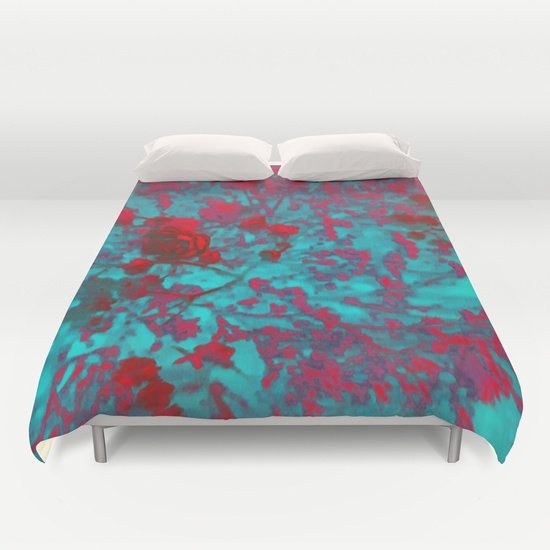 RED BLUE ROSES DUVET COVERS for FULL SIZE 1YdvnoT