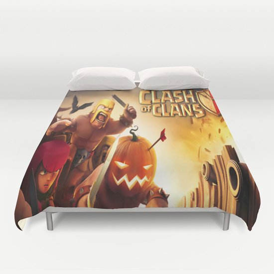 CLASH OF CLANS DUVET COVERS for QUEEN SIZE 1G7ESQI