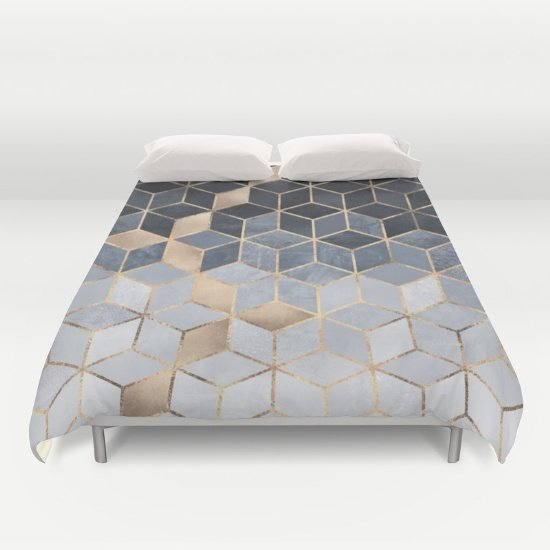 Cube White DUVET COVERS for KING SIZE 2gnWu3d