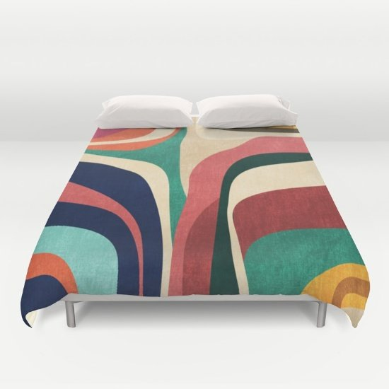 Contour map Duvet COVERS for FULL SIZE 2gr8YYD