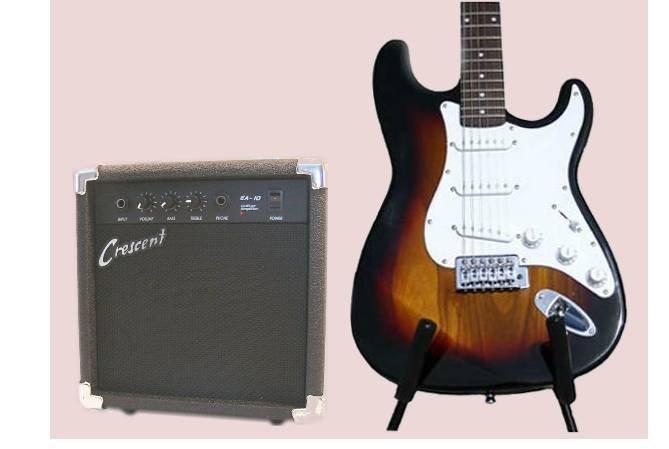 ELECTRIC GUITAR CombO STARTER KIT W/ 10 Watt AMP, Many Colors