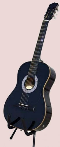 ACOUSTIC ELECTRIC Guitar w/ EQ, Black