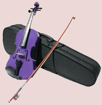 4/4 Violin with Accessories & Case Full Size, Purple