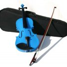 4/4 Violin with Accessories & Case Full Size, Blue