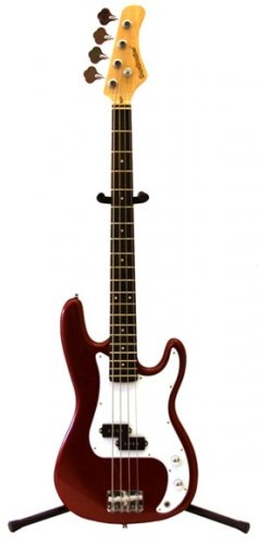 Bass Guitar, Metallic Red