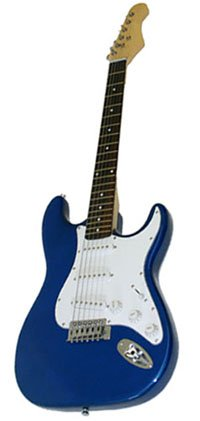 Electric Guitar, Metallic Blue