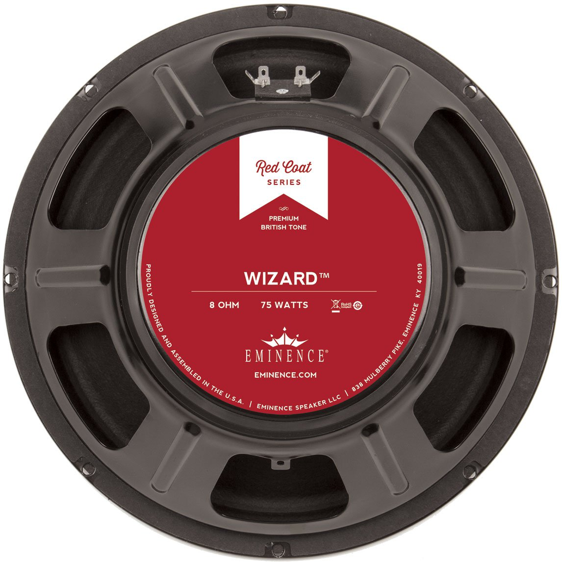"""Eminence Red Coat The Wizard 12"""" Guitar Speaker 75W 8 Ohm"""