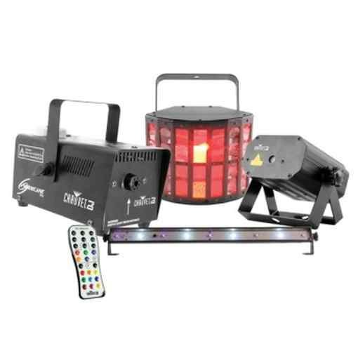 CHAUVET DJ JAMPACKGOLD JAM� Pack Gold Party Package, Strobe,Kinta,Laser and Fog