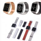 Hot Sale Z50 Smart Wrist Watch Phone with Metal Frame Leather and Steel Strap 2G