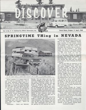 Discover Newsletter- White's Electronics April 1968