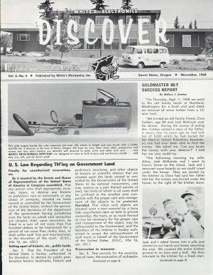 Discover Newsletter- White's Electronics November 1968