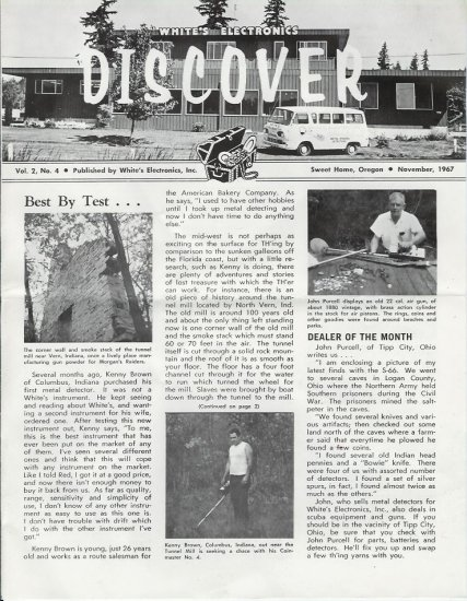 Discover Newsletter- White's Electronics November 1967