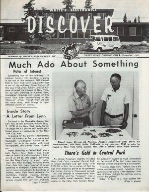 Discover Newsletter- White's Electronics November 1970