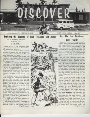 Discover Newsletter- White's Electronics March 1971