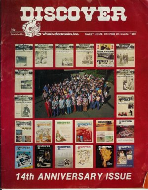 Discover Newsletter- White's Electronics 1980 14th Anniversary issue