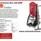 Construction Dust Extractor HEPA Vacuum w/ 100 AMP Distribution Box - 230V.
