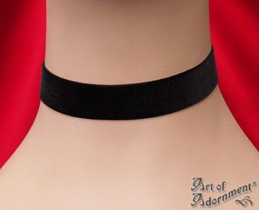 Victorian Gothic 22mm Black Velvet Ribbon Choker Custom Necklace Steampunk L05