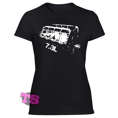 7,3L POWERSTROKE POWERSTROKE Diesel Power Women's Black T Shirt