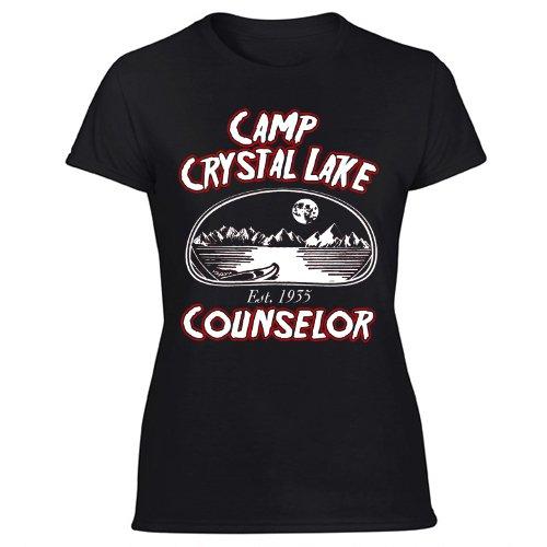 Camp Crystal Lake 80s movie jason slasher horror film Women's Black T Shirt