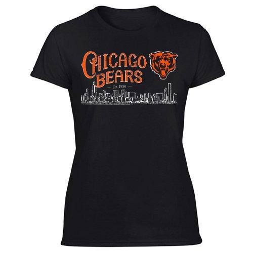 Chicago Bears National Football NFL Women's Black T Shirt