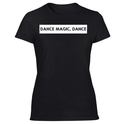 Dance Magic funny 80s Women's Black T Shirt