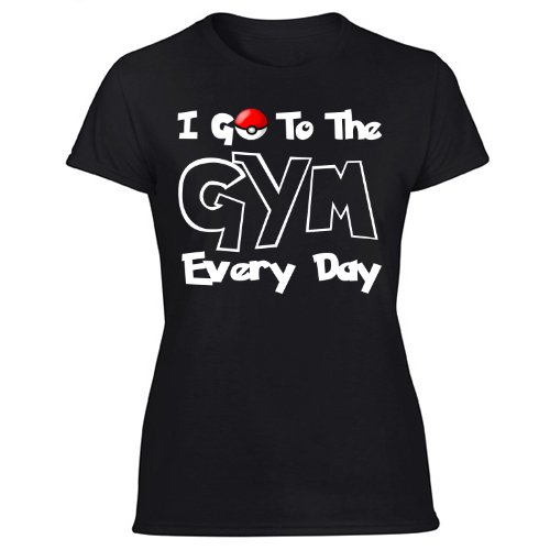 I Go To The Gym Every Day, Pokemon Go Fitness Shirt Women's Black T Shirt