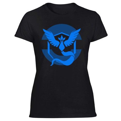 Pokemon Go Team Mystic Symbol Women's Black T Shirt