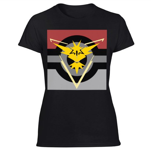 Team Instinct Pokemon Go Women's Black T Shirt