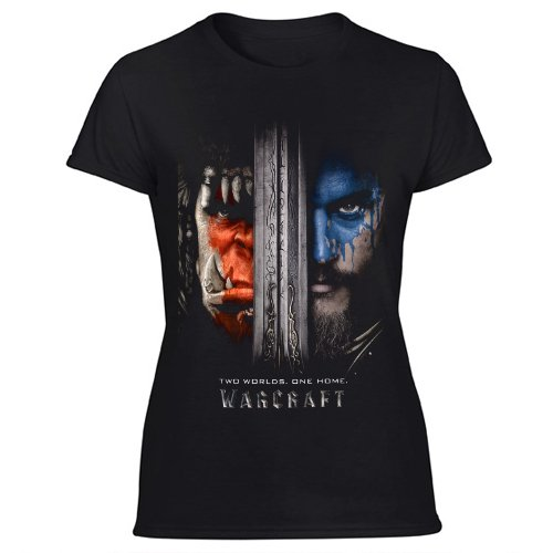 Warcraft The Beginning Movie for World of Warcraft Game Women's Black T Shirt