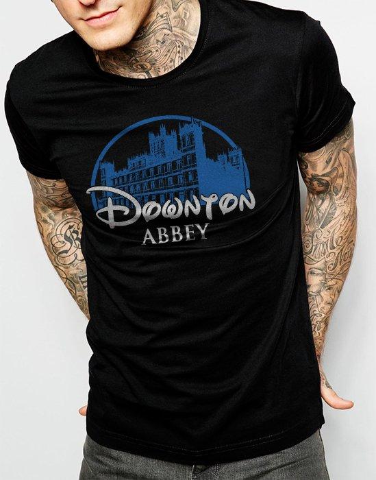 DOWNTON ABBEY Castle Bates Sherlock Men Black T-Shirt Tee