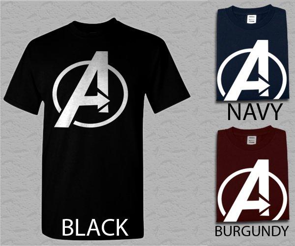 Men T Shirt Avengers Logo Marvel Adult T-Shirt S - XXL