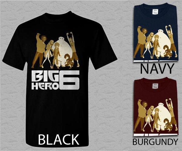 Men T Shirt Big Hero 6 Movie Adult T-Shirt S - XXL
