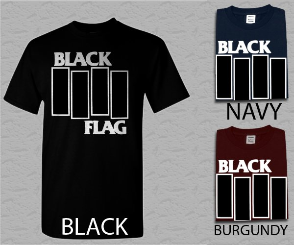 Men T Shirt Black Flag Adult T-Shirt S - XXL