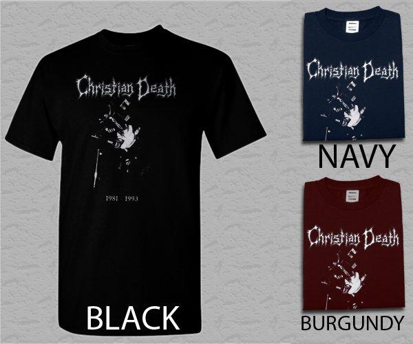 Men T Shirt Christian Death Black Adult T-Shirt S - XXL