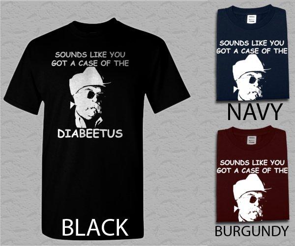 Men T Shirt DIABEETUS Wilford Brimley Adult T-Shirt S - XXL