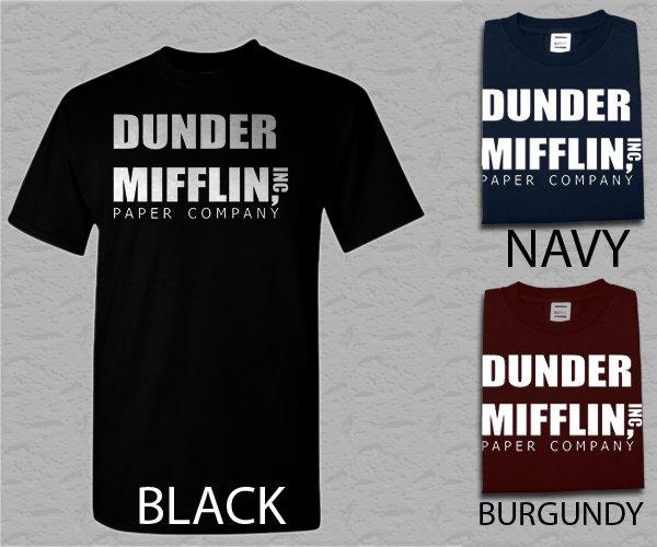 Men T Shirt Dunder Mifflin PAPER The Office Funny SCHRUTE Adult T-Shirt S - XXL
