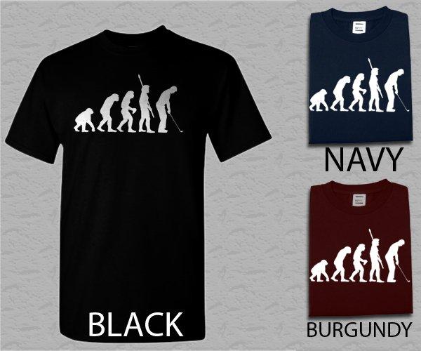 Men T Shirt Evolution of Golf Big & And Tall Golfing Golf Club Tournament Mens Tshirt