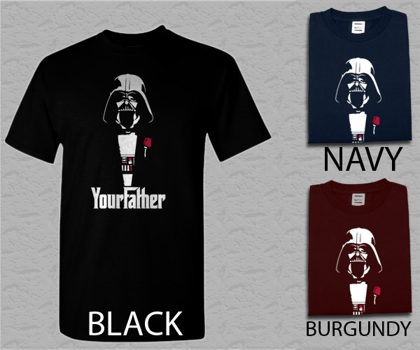 Men T Shirt FUNNY STAR WARS DARTH VADER GODFATHER Adult T-Shirt S - XXL