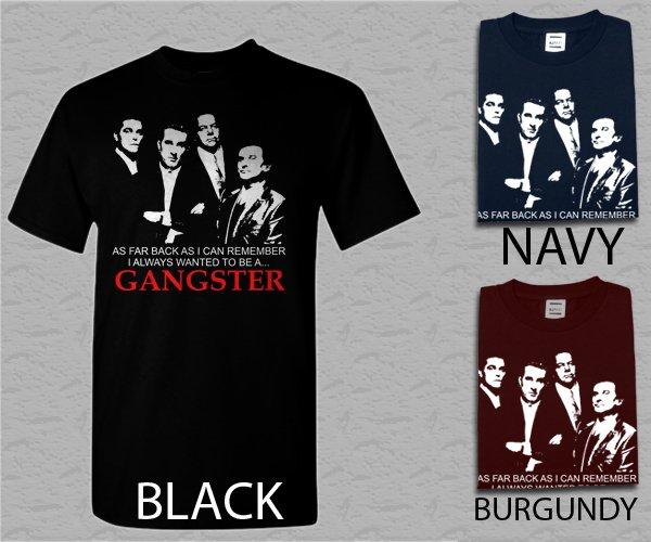 Men T Shirt Goodfellas Gangster - De Niro, Pesci, Liotta Mob Adult T-Shirt