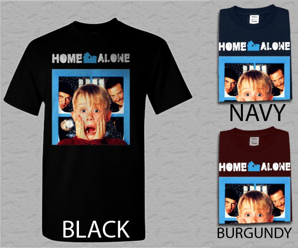 Men T Shirt Home Alone 1990 Macaulay Culkin Adult T-Shirt S - XXL