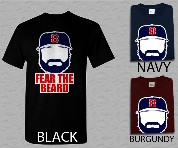 Men T Shirt Johnny Gomes Boston Red Sox FEAR THE BEARD Adult T-Shirt S - XXL
