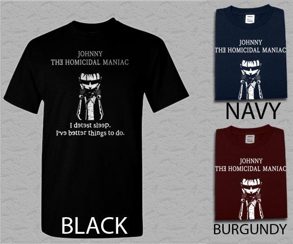 Men T Shirt Johnny The Homicidal Maniac Comic Adult T-Shirt S - XXL