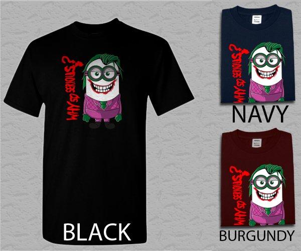 Men T Shirt Minion Joker Adult T-Shirt S - XXL