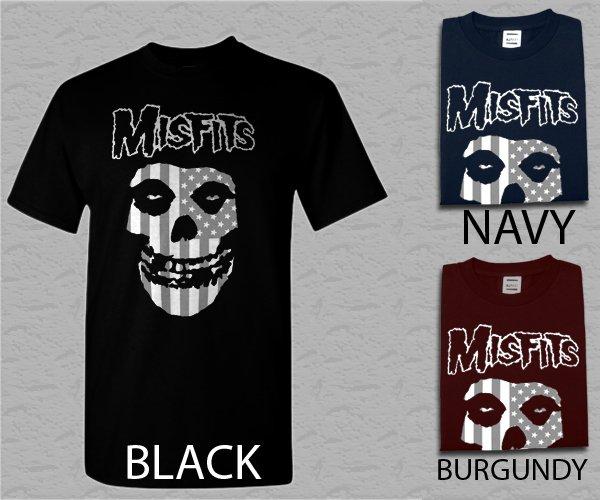Men T Shirt Misfits USA Face Adult T-Shirt S - XXL